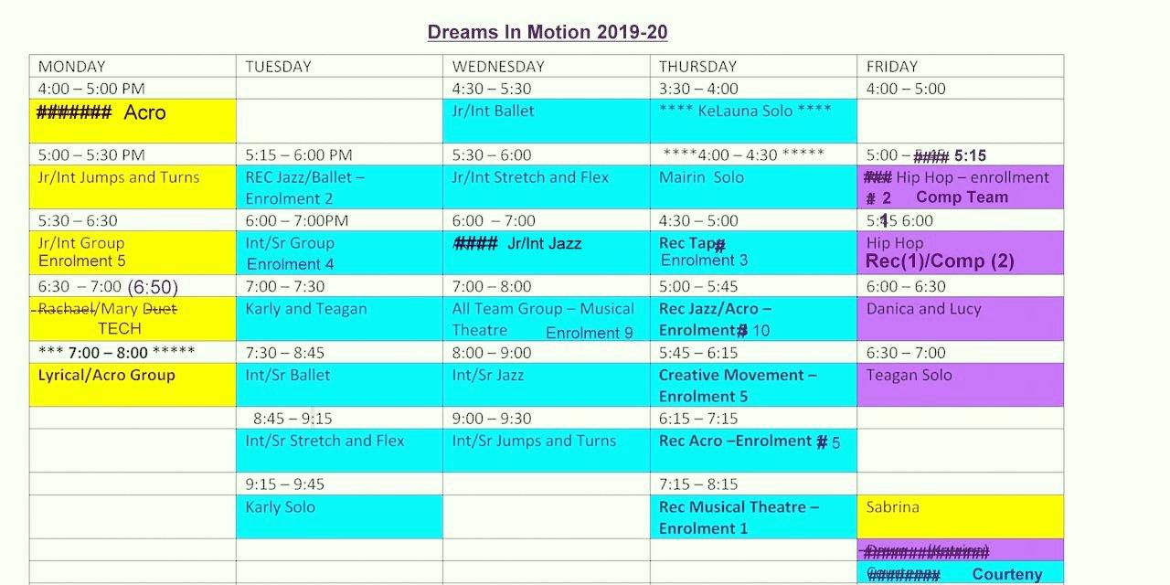 Schedule 2019-20 Nov 06 2019